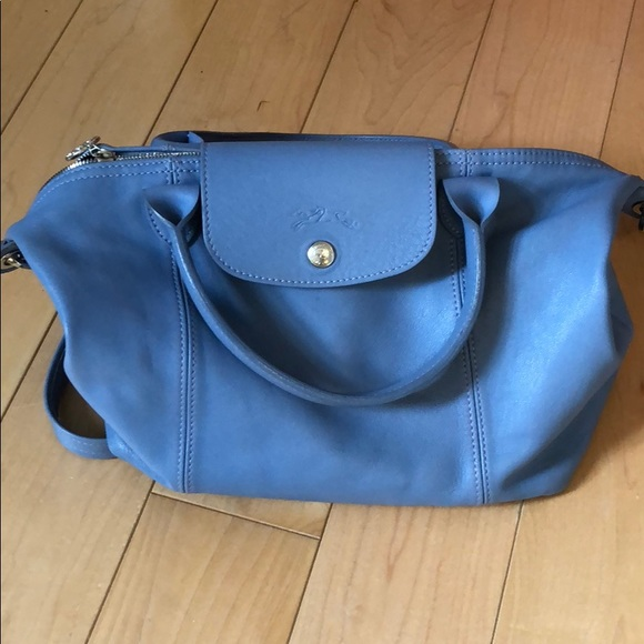 0378c403a0ff Longchamp Handbags - Beautiful blue longchamp leather bag
